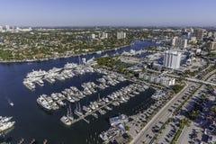 Fort Lauderdale aéreo, Florida Fotos de Stock Royalty Free