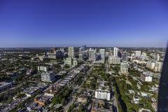 Fort Lauderdale aéreo, la Florida Imágenes de archivo libres de regalías