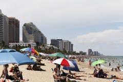 Fort Lauderdale ammucchiato del partito della spiaggia Immagini Stock