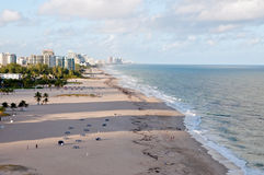 Fort Lauderdale Beach. View of Fort Lauderdale Beach Royalty Free Stock Photography