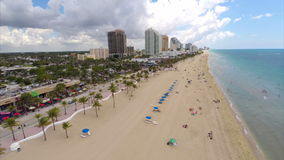 Fort Lauderdale beach aerial video footage stock video