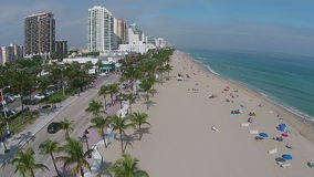 Fort Lauderdale beach aerial stock video footage