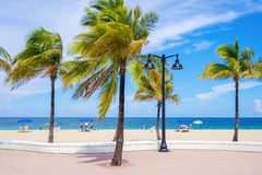 Fort Lauderdale beach in Florida on a beautiful day Stock Photos