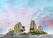 Fort Lauderdale Beach, Florida. Sunset view.  Stock Photography