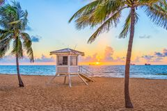 Fort Lauderdale Beach, Florida, USA Royalty Free Stock Images
