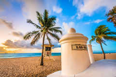 Fort Lauderdale Beach. Fort Lauderdale, Florida, USA at the beach Stock Image