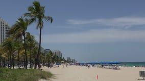 Fort Lauderdale Beach in 4K stock footage