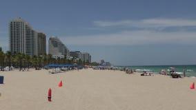 Fort Lauderdale Beach in 4K stock video footage