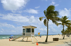 Fort Lauderdale beach lifeguard station Royalty Free Stock Images