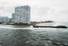 Fort Lauderdale Beach Ocean view Stock Images