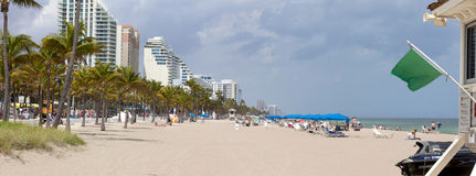Fort Lauderdale Beach (panoramic) Royalty Free Stock Photos