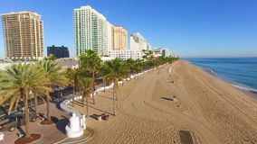 Fort Lauderdale Beach and A1A road aerial video stock video footage