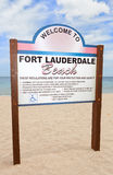 Fort Lauderdale Beach sign Royalty Free Stock Images