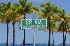 Fort Lauderdale Beach Street Sign Stock Image
