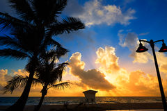 Fort Lauderdale beach sunrise Florida US Royalty Free Stock Photos