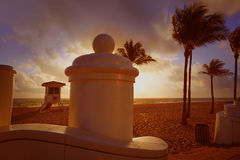 Fort Lauderdale beach sunrise Florida US Stock Image