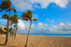 Fort Lauderdale beach sunrise Florida US Royalty Free Stock Photography