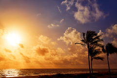 Fort Lauderdale beach sunrise Florida US Royalty Free Stock Image