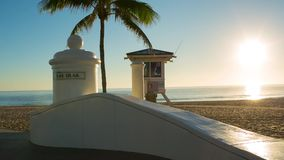 Fort Lauderdale beach on sunrise. Raw video source stock video footage