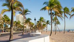 Fort Lauderdale beach on sunrise stock video