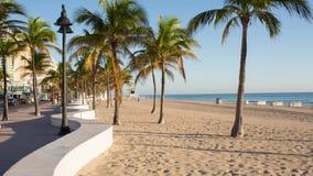Fort Lauderdale beach on sunrise stock video footage