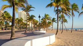 Fort Lauderdale beach on sunrise. Raw video source stock video