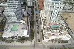 Fort Lauderdale beira-mar dos hotéis Imagem de Stock