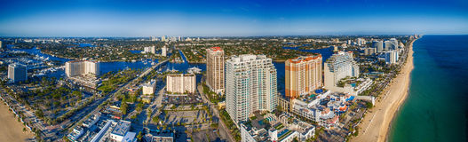 Fort Lauderdale coastline , aerial view of Florida.  Royalty Free Stock Image