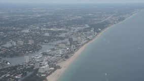 Fort Lauderdale coastline stock footage
