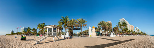 FORT LAUDERDALE - 25 DE FEBRERO DE 2016: Boule de la playa del Fort Lauderdale Fotos de archivo
