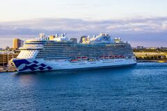 Free Fort Lauderdale - December 1, 2019: Sky Princess Cruise Ship Docked At Seaport Port Everglades Royalty Free Stock Photography - 170562267