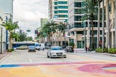 Fort Lauderdale del centro, Florida Fotografia Stock Libera da Diritti