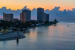 Fort Lauderdale del cielo di mattina Immagini Stock Libere da Diritti
