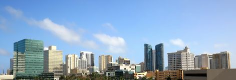Fort Lauderdale Downtown Skyline. Panoramic view of downtown Fort Lauderdale, Florida, USA Royalty Free Stock Photos