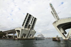 Fort Lauderdale Drawbridge - Florida - USA. Fort Lauderdale Drawbridge open - Florida - USA Stock Photography