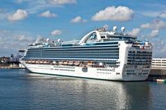 Forro do cruzeiro no porto no Fort Lauderdale Fotografia de Stock