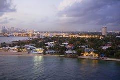 Fort Lauderdale Fl 美国 夜间 免版税图库摄影