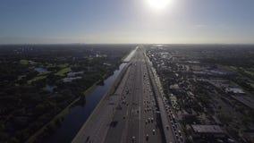 Fort Lauderdale FL de l'antenne 595 banque de vidéos