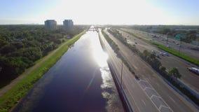 Fort Lauderdale FL der Antennen-595 stock video