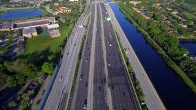 Fort Lauderdale FL för antenn 595 lager videofilmer