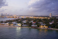 Fort Lauderdale. FL. USA. Evening. Royalty Free Stock Photography