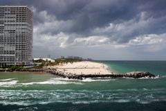 Fort Lauderdale, Florida - beach and skyscrapers Stock Photography