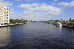 Fort Lauderdale Florida Intracoastal Waterway Arkivbild