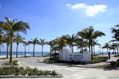 Den Fort Lauderdale stranden parkerar Royaltyfria Bilder