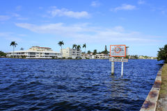 Manatee Zone Warning Sign Stock Images