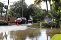 Flooded Streets, Victoria Park, Fort Lauderdale. FORT LAUDERDALE, FLORIDA - OCTOBER 28: Flooded streets in the Victoria Park neighborhood south of Sunrise a few stock photos