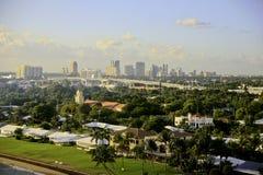 Fort Lauderdale Florida, USA, horisont Arkivfoto