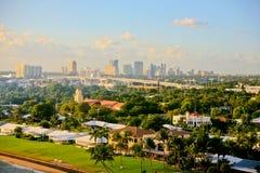 Fort Lauderdale Florida, USA, horisont Arkivbilder