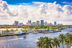 Fort Lauderdale, Florida. USA skyline Royalty Free Stock Image