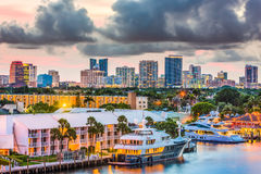 Fort Lauderdale, Florida. USA skyline Stock Photography